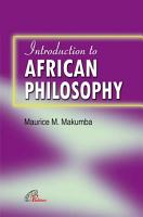 An Introduction to African Philosophy PDF