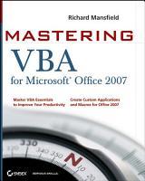 Mastering VBA for Microsoft Office 2007 PDF
