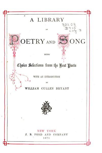 Download A Library of Poetry and Song Book