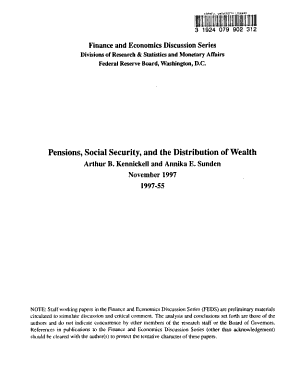 Pensions  Social Security  and the Distribution of Wealth PDF