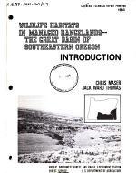 Wildlife Habitats in Managed Rangelands