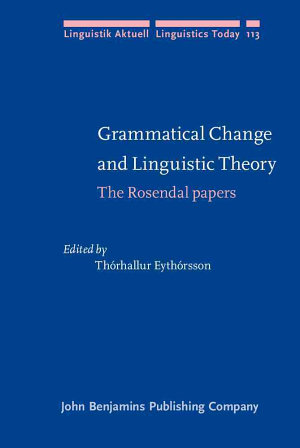 Grammatical Change and Linguistic Theory