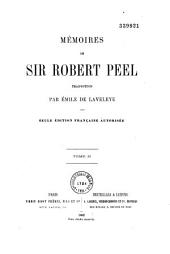 Mémoires de Sir Robert Peel: Volume 2