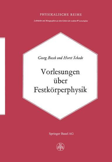 Vorlesungen   ber Festk  rperphysik PDF