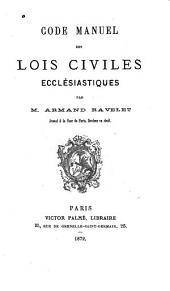 Code manuel des lois civiles ecclésiastiques
