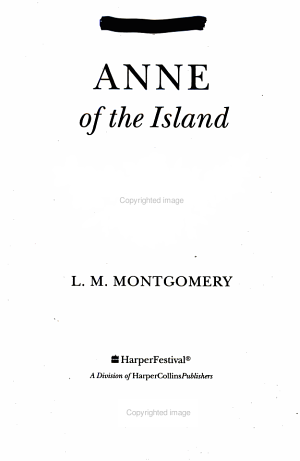 Anne of the Island Book and Charm