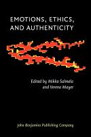 Emotions  Ethics  and Authenticity PDF