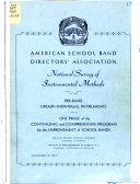National Survey of Instrumental Methods