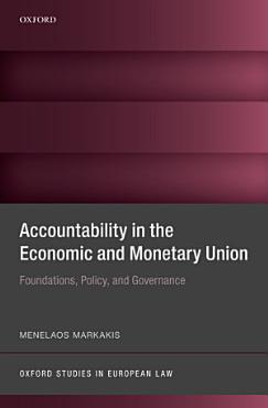 Accountability in the Economic and Monetary Union PDF
