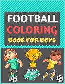 Football Coloring Book For Boys