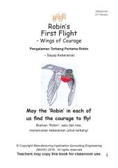 Pengalaman Terbang Pertama Robin Robins First Flight Indonesian Version: – Sayap Keberanian - Wings of Courage