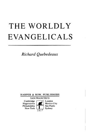 The worldly evangelicals PDF