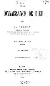 De la connaisance de Dieu: Volume2