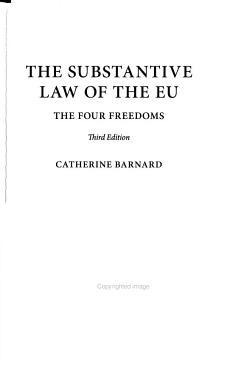 The Substantive Law of the EU PDF