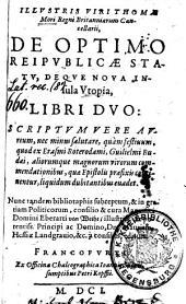 De optimo reipublicae statu, deque nova insola Utopia: libri duo