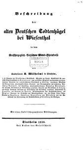 Beschreibung der deutschen Todtenhügel bei Wiesenthal ... im Badischen Mittel-Rheinkreise