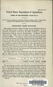 Marketing of Maine potatoes: Volumes 46-85