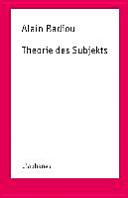 Theorie des Subjekts PDF