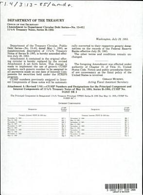 United States of America  Treasury Notes of May 15  1995  Series B 1995 PDF