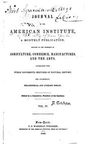 Journal of the American Institute: Volume 4