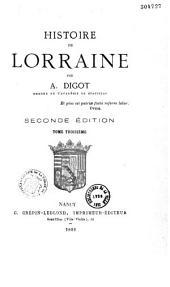 Histoire de Lorraine: Volume3