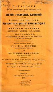 Veilingcatalogus, boeken van J. H. A. Jonkers ... [et al.], 16 tot 18 december 1872