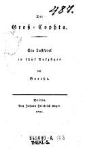 Der    Gro   Cophta PDF