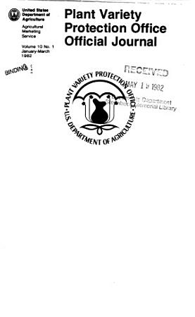 Plant Variety Protection Office Official Journal PDF