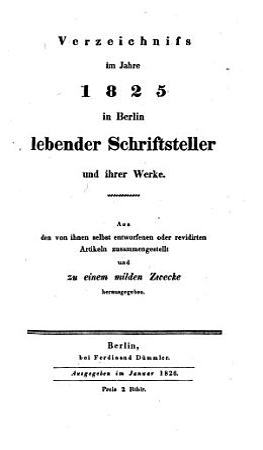 Gelehrtes Berlin im Jahre 1825 PDF