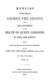 Memoirs of the Reign of George the Second: Volume 2