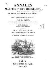 Annales maritimes et coloniales: publiées avec l'approbation du ministre de la marine et des colonies