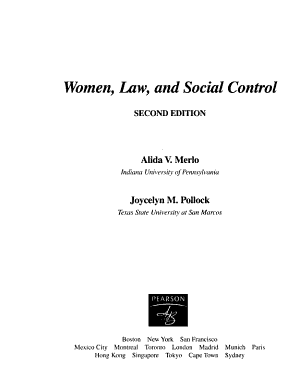 Women  Law  and Social Control PDF