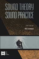 Sound Theory  Sound Practice PDF