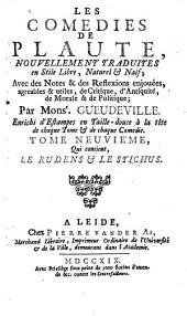 Les Comédies: Qui contient Le Rudens et Le Stichus, Volume9