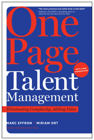 One Page Talent Management  with a New Introduction