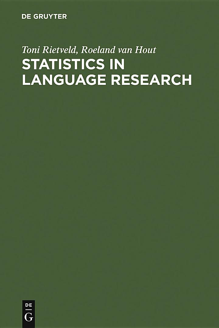 Statistics in Language Research