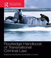 Routledge Handbook of Transnational Criminal Law PDF
