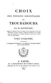 Choix des poésies originales des troubadours: Volume5