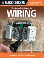 Black   Decker The Complete Guide to Wiring  5th Edition PDF