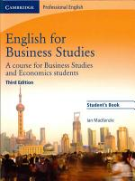 English for Business Studies Student s Book PDF