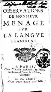 Observations sur la langue françoise