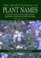 CRC World Dictionary of Plant Nmaes PDF