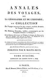 Annales des voyages de la géographie et de l'histoire: Volume10