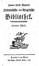 Orientalische und exegetische bibliothek ...