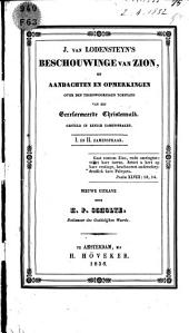 J. van Lodensteyn's Beschouwinge van Zion, of Aandachten en opmerkingen over de tegenwoordige toestand van het Gereformeerde Christenvolk: gesteld in eenige zamenspraken