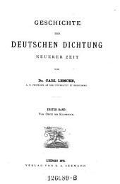 Von Opitz bis Klopstock: Volume 1