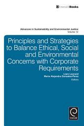 Principles and Strategies to Balance Ethical, Social and Environmental Concerns with Corporate Requirements