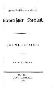 Friedrich Schleiermacher's sämmtliche werke