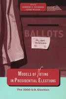 Models of Voting in Presidential Elections PDF
