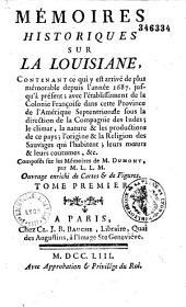 Mémoires historiques sur la Louisiane, composés sur les Mémoires de M. Dumont, par M. L. L. M.